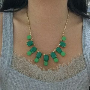Kate Spade green jewel statement necklace